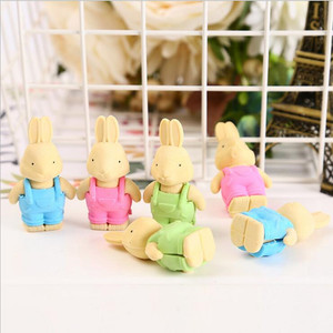 Image 2 - 27pcs/lot Cute Double leaf Bunny rubber design Eraser For Kids Lovely  Cute Stationery Children Gift