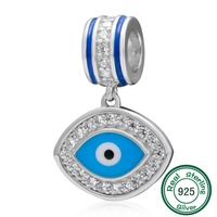 ChaWin Blue Evil Eye Charm Pendant Original 100 Authentic 925 Sterling Silver Beads Fit For Pandora