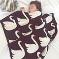 100% хлопок трикотажные белый лебедь детское одеяло детские коляски одеяла дети кондиционер чехлы диван кровать Cobertores банные полотенца играть