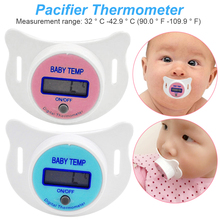 Baby Nipple Thermometer Medical Silicone Pacifier LCD Digital Children's Thermometer Health Safety Baby Care Thermometer compact size thermocouple thermometer low cost thermometer dual inputs thermometer center 308
