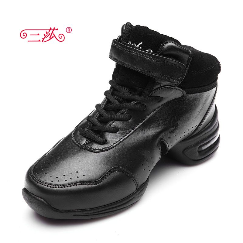 ФОТО sasha genuine men and women Full Grain Leather  Jazz majoring in hipPop sneakers dance shoes b51b