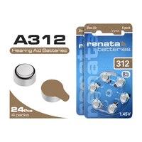 Аккумулятор для слухового аппарата 24 шт. A312 High peformence оригинальный цинк Air 1,45 V 312A ZA312 S312 PR41 B3124 батареи Бесплатная доставка ~