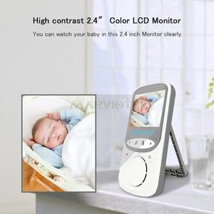 Image 2 - Monitor do bebê sem fio lcd de áudio e vídeo rádio babá música intercom ir 24h portátil bebê câmera walkie talkie babá vb605