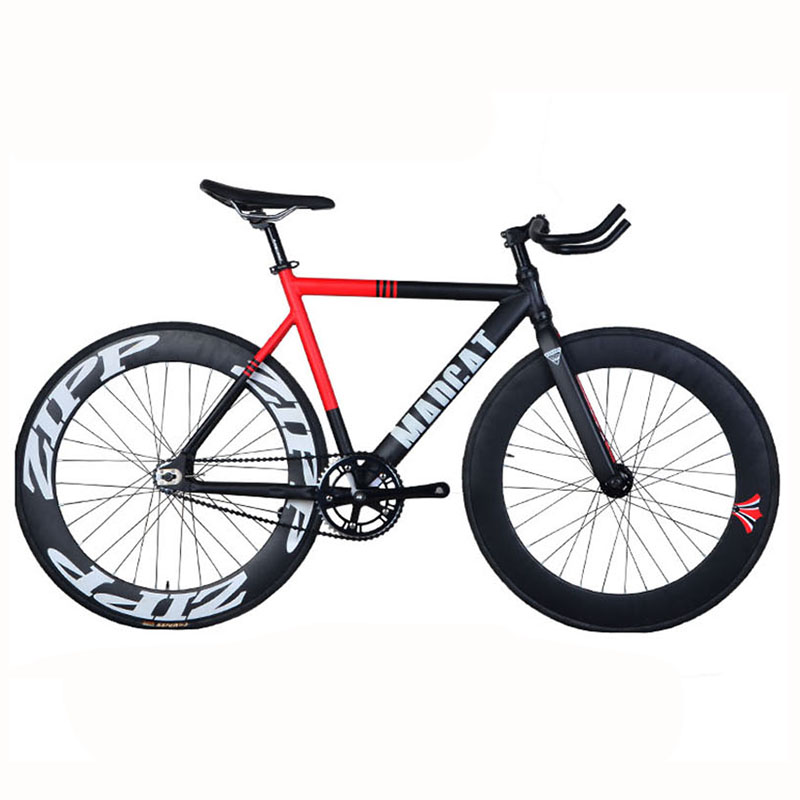 fixed gear bike fixie 700c bike frame 52cm aluminum alloy frame fork track bicycle 70mm rim