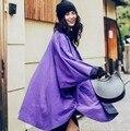 2016 Otoño Nueva Capa de Foso de Las Mujeres Turn Down Collar Batwing Two Side Wear de manga Trench Coat de Gran Tamaño Trench Outwear Femme Z340