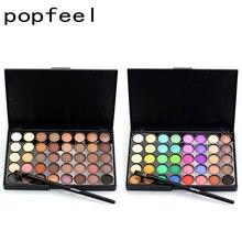 Popfeel 40 Colors Matte Makeup Glitter Eye Shadow Diamond Shimmer Primer Luminous Women Gift