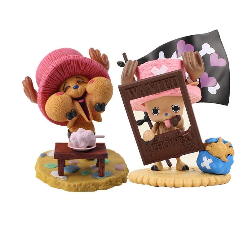 Us 10 53 19 Off 14 15cm Anime One Piece Tony Tony Chopper Action Figure Model Toy 2styles Kawaii Tony Tony Chopper Cute Figure Monkey D Luffy In