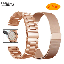 Galaxy Watch 42mm 46mm Band 20mm 22mm Milanese Loop Stainless Steel Strap Bands for  Samsung Galaxy Watch Active Band Galaxy S3 milanese loop watchband 20mm 22mm for samsung galaxy watch 42mm 46mm r810 r800 magnet band stainless steel strap wrist bracelet