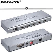 Voxlink 1×2/1×4/1×8 HDMI2.0 Splitter 1080 P 4 К 3D HDMI сплиттер Коммутатор поддерживает 4 К/60 Гц HDCP2.2 EDID RS232 для ПК DVD