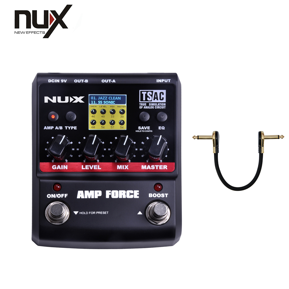 NUX Force series /Stomp Boxes / Guitar Effect Pedals/ AMP FORCE Modeling Amp Simulator aroma adr 3 dumbler amp simulator guitar effect pedal mini single pedals with true bypass aluminium alloy guitar accessories
