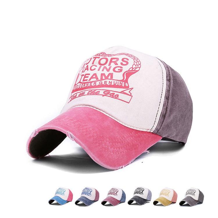 47daa76b028 2016 Fashion Hip Hop Sports cotton motorcycle racing team cap retro  Baseball Caps Chapeu Vintage gorras planas Casquette hats