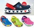 Конфеты цвета туннель для обуви девушки парни мультфильм повседневная обувь принцесса сандалии дети тапочки пляжная обувь флип-флоп фен