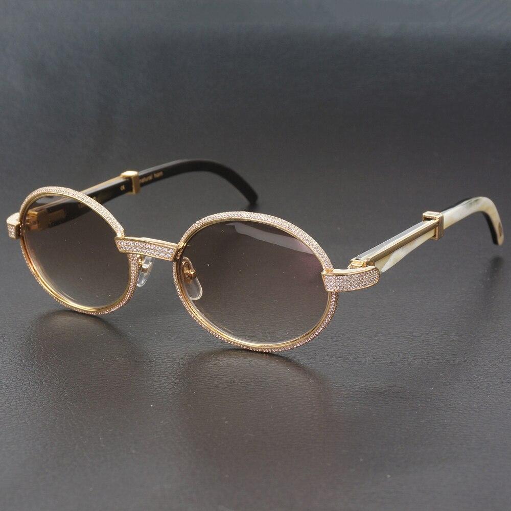 Diamant lunettes de soleil pour hommes ovale Carter lunettes cadres avec pierres luxe lunettes décoration lunettes de soleil rétro nuances pour Club