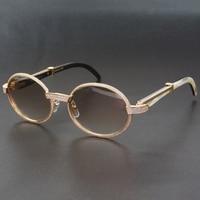 Diamond Sunglasses for Men Oval Carter Glasses frames with Stones Luxury Eyewear Decoration Sun Glasses Retro Shades for Club