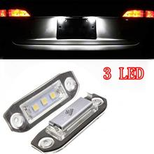 White Car-Styling Number Lamp 2Pcs Canbus LED License Plate Light for Volvo S80 XC90 S40 V60 XC60 S60 C70 V50 XC70 V70 car computer screen display projector refkecting windshield for volvo c70 s40 s60 s70 s80 s90 v40 v70 v90 xc70 driving screen