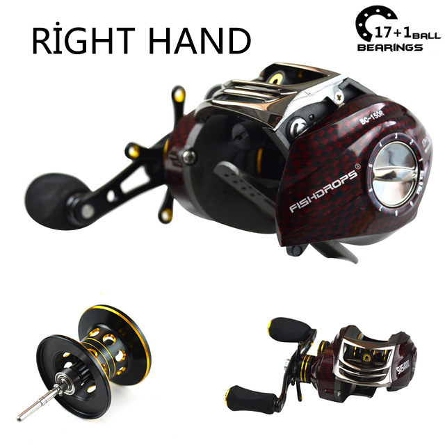 Shishamo 17+1BB 6.3:1 low profile reel casting Fishing reel baitcasting Fishing reels (right hand)(China)