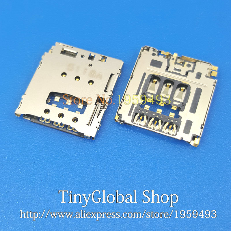 2pcs/lot Coopart New SIM Card Reader Socket Slot Holder Replacement For Blackberry Q5 Z30/ Z10 Q10/ Q20/ 9720 9800