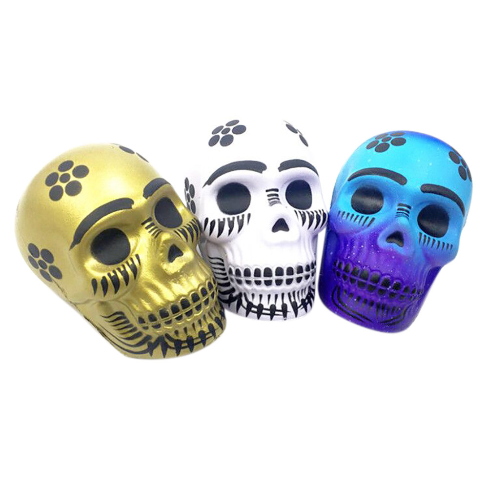 Exquisite Fun Galaxy Skull Scented Squishy Charm Slow Rising 10cm Kid Toys Gift