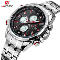 NAVIFORCE Mens Watch 2017 Hot Selling Full Steel Men Quartz Watches Fashion Casual Back Light Male