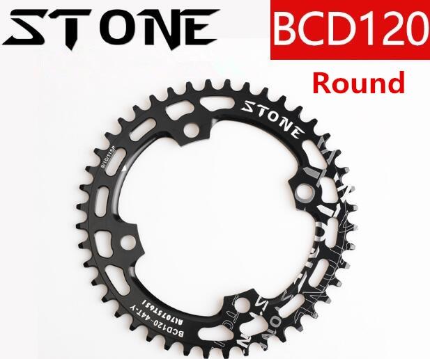 Pierre ronde/ovale 120BCD 36 T 38 T 40 T 42 T 44 T 46 T 48 T 50 T vélo plateau couronne 4 trous