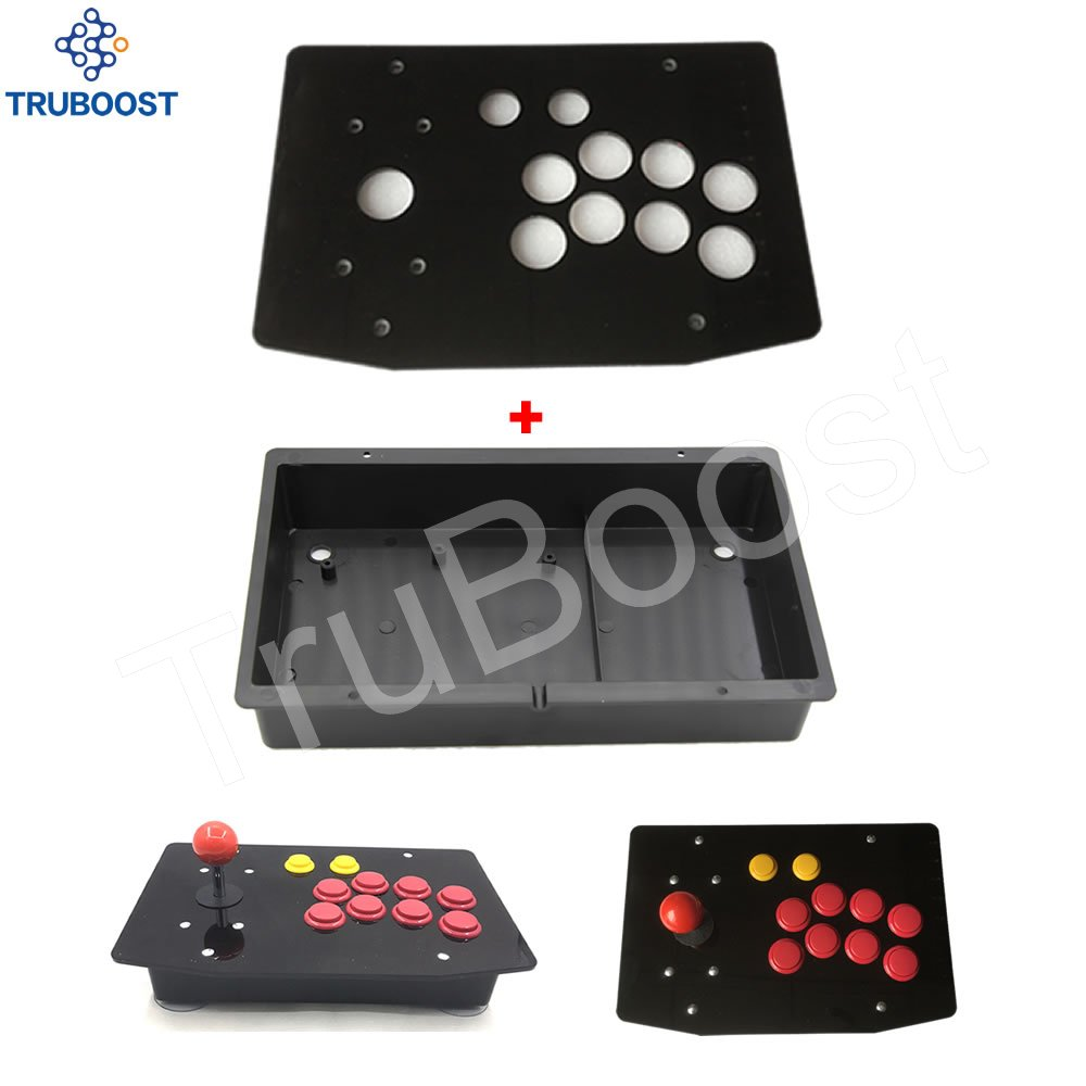 DIY Arcade Joystick Kits Replacement Part 10 Buttons Arcade Joystick Acrylic Panel and Case(China)