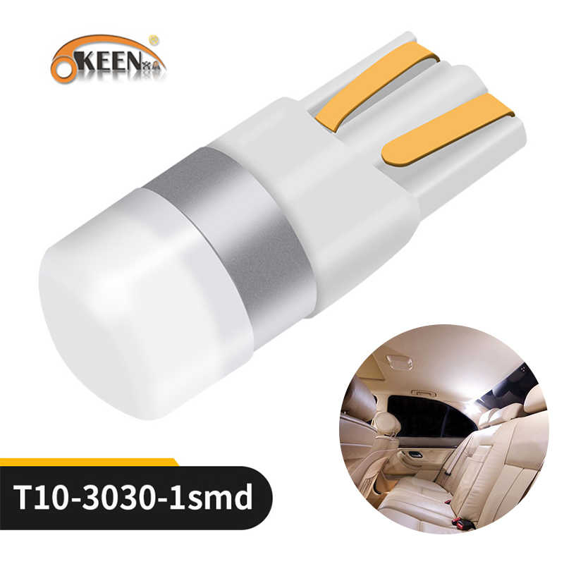 OKEEN Car T10 Led Canbus 6000K White T10 w5w Led Bulbs DRL Turn Parking Width Interior Dome Light Reading Lamp 12V Car Styling