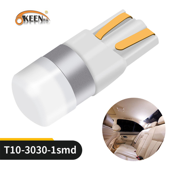 цена на OKEEN Car T10 Led Canbus 6000K White T10 w5w Led Bulbs DRL Turn Parking Width Interior Dome Light Reading Lamp 12V Car Styling