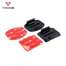 8 шт. комплект без каблука Изогнутые Шлем Подставки Клей Гора + 3 М VHB Наклейки для Go Pro Hero 5 4 3 Xiaomi Yi 4 К SJ4000 Камера Аксессуары