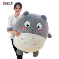 Cute Animal Toy 40cm 70cm Fat Totoro Lovely Chinchilla Plush Down Cotton Soft Filled Totoro Doll