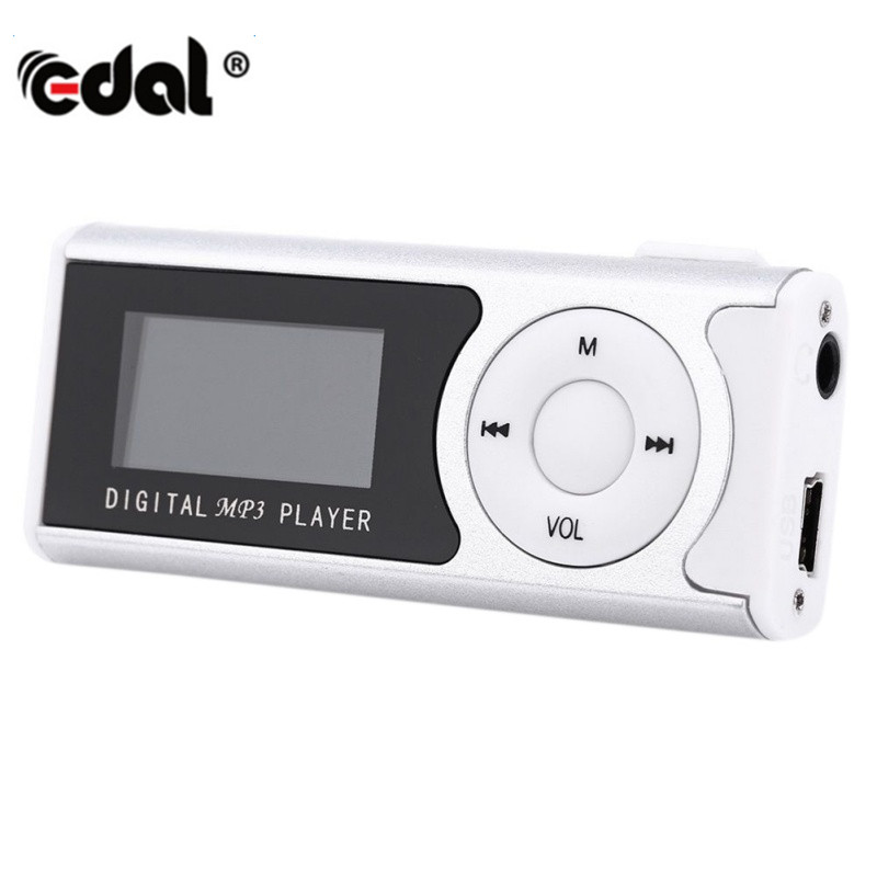 New Mini USB Clip LCD Screen MP3 player Media Player Supports 8GB Micro SD  for Music Player Media Player portable media player