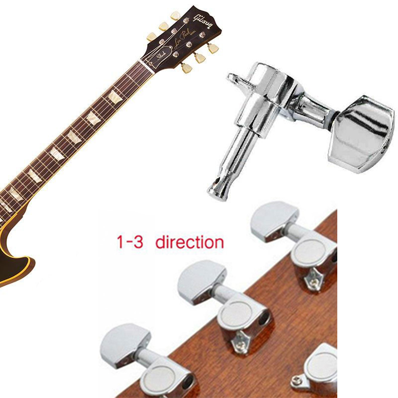 buy 6pcs lot sealed bass guitar tuning pegs keys machine head tuners classical. Black Bedroom Furniture Sets. Home Design Ideas