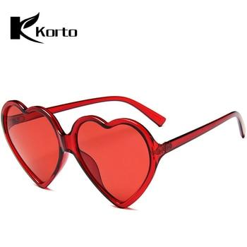 9ee426e37f 90 S Vintage rosa amarillo rojo gafas grandes de moda de señora de las  mujeres chicas de corazón en forma de gafas de sol Retro amor lindo gafas