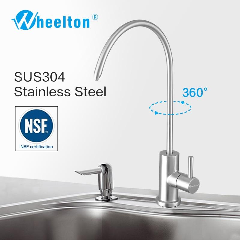 Wheelton RO Robinet sus304 En Acier Inoxydable Sans plomb NSF Cuisine de L'eau Potable Du Robinet Pour Filtre Purifier Système par exemple. osmose inverse