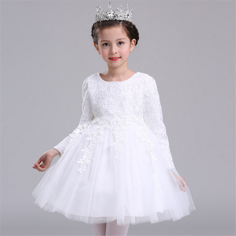 2017 Baby Girls princess wedding party Dresses kids Costumes dress for girls spring autumn long sleeve kids clothes baby clothes girls dresses long sleeve 2017 spring brand kids dress for girls clothes baby infant animal flower princess costumes children