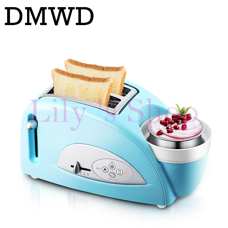 DMWD MINI Household Bread baking maker toaster toast oven yogurt maker boiled eggs Cooker multifunction Breakfast Machine EU US dmwd mini household bread maker electrical toaster cake cooker 2 slices pieces automatic breakfast toasting baking machine eu us