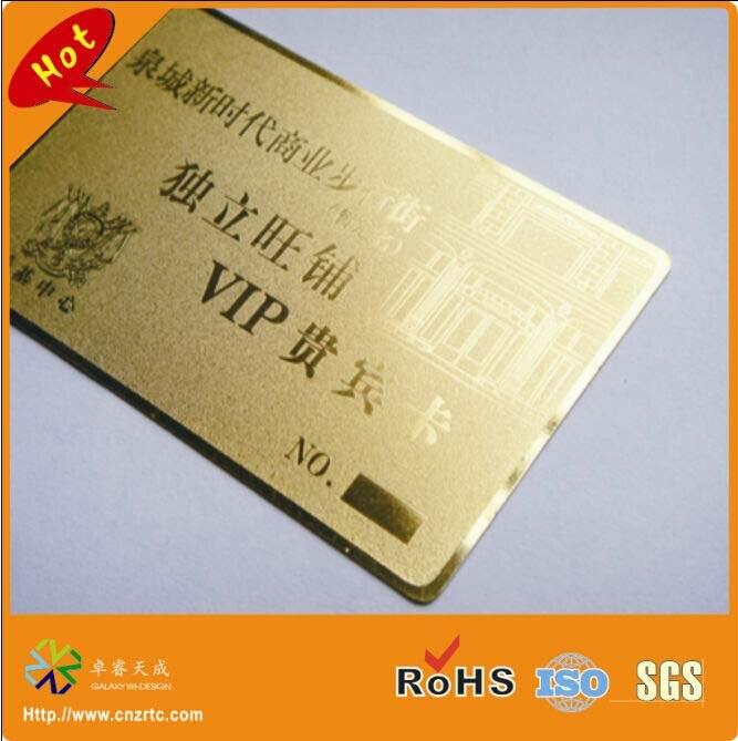 Us 98 89 Benutzerdefinierte Gold Metall Visitenkarte Gold Metall Mitgliedskarte Mit Kleinen Löchern Schneiden Durch In Visitenkarten Aus Büro Und