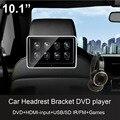 11 polegada HD 1080 P Suporte De Encosto de cabeça Do Carro montar DVD player Multimídia Player com tela de Toque e teclas Sensíveis Ao Toque HDMI USB SD FM