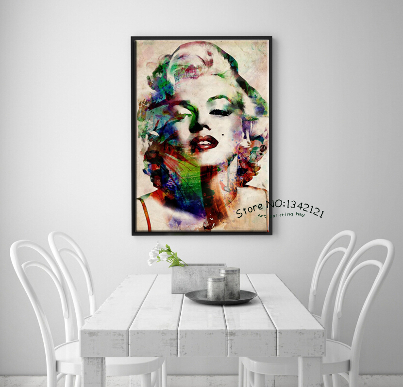 Marilyn Monroe Cuadro Pop Art Modern Cuadros Decorative Art Portrait Canvas