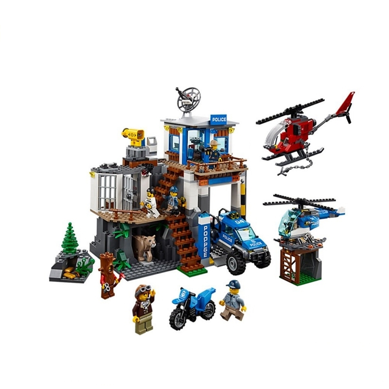 City Series The Mountain Police Headquater Set 60174 Building Blocks Bricks Toys Model For Kids As Gifts city series the mountain police headquater set 60174 building blocks bricks toys model for kids as gifts