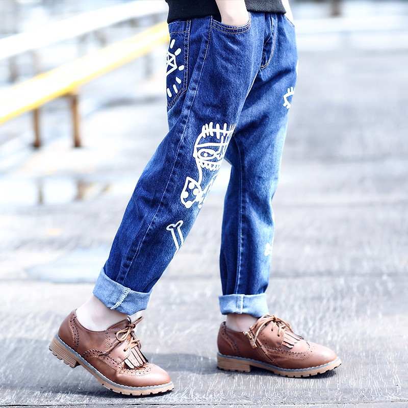 high quality fashion 2017 children jeans for boys kids scrawl pattern denim pants clothing children baby little big boy jeans clothes 6 7 8 9 10 11 12 13 14 15 16 years old (8)
