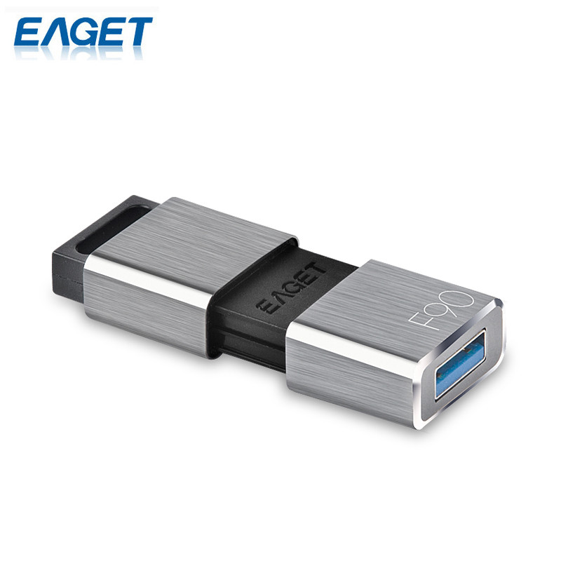 EAGET Original F90 USB Flash Drive 256G Pen Drive Ultra Fast Metal Mini USB 3.0 Memory External Storage Disk