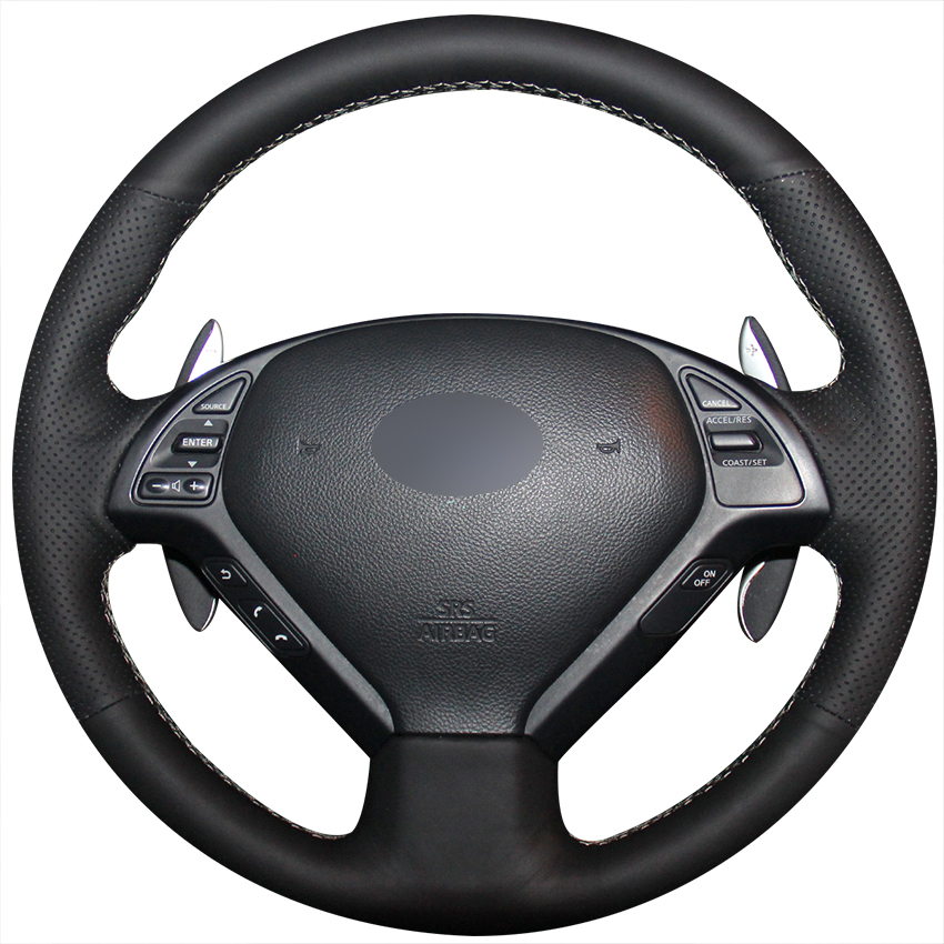 2013 Infiniti Ex Interior: Black Artificial Leather Car Steering Wheel Cover For