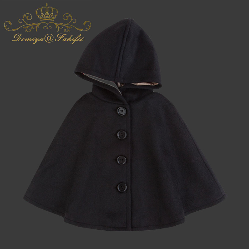 2018 Brand Winter Girls Kids Baby Outwear Wool Cloak Button Jacket Woolen Coat Clothes Fashion Cloak Toddler Children Clothing one button design longline woolen coat page 8