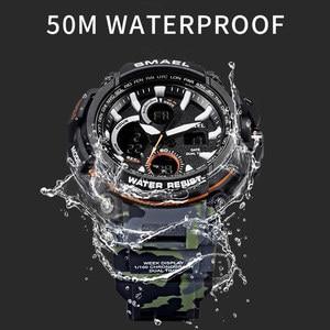 Image 3 - Smael Sport Horloges Waterdicht Mannen Horloge Led Digitale Horloge Militaire Mannelijke Klok Relogio Masculino Erkek Kol Saati 1708B Mannen Horloge