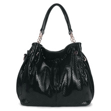 Marcas de lujo mujer bolsos de cuero serpentina moda Casual grandes bolsos grandes damas de hombro borsa donna grande