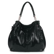 Luxury Brand Designer Women Leather Bags Serpentine Fashion Casual Big Handbags Large Ladies Shoulder Bags borsa
