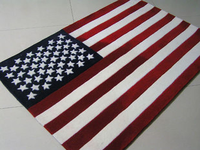 120*170CM Fashion Brief Stars And Stripes Handmade Acrylic Carpet Living  Room Coffee Table Home