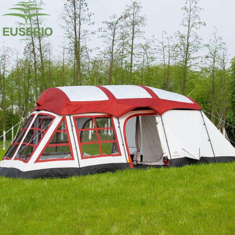 8-12 personnes double couche famille extérieure deux chambres et une salle de séjour maison forme équipe camping tente innice version