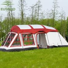 8-12Persons двухслойная уличная семья две спальни и одна гостиная дом форма команда палатка innice версия