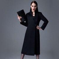 Элегантный Британский Стиль Кашемир Пальто Верхней Одежды Ol Осенью И Зимой женщин Траншеи Длинная Шерсть Шерстяной